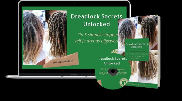 dreadlock secrets unlocked mock up - lock solid dreadlocks - alles voor dreads - solid locks academy - dreadlock cursus training